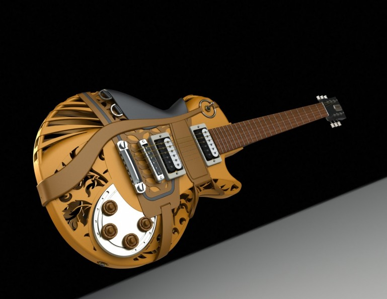 RodeoMuse 3D-напечатанная гитара от Customuse