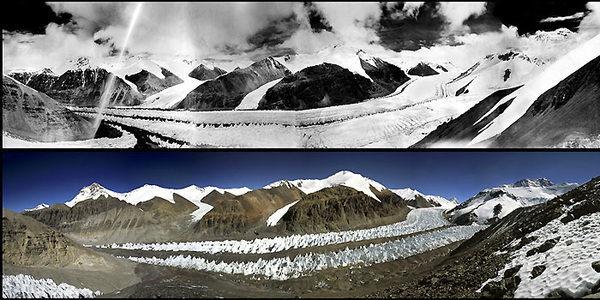 Тибет до и после таяния ледников