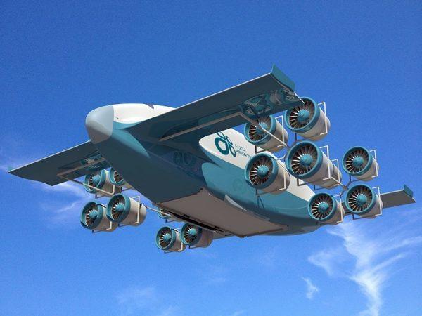 Гибридный VTOL грузовой самолет концепт 4x4 Aviation