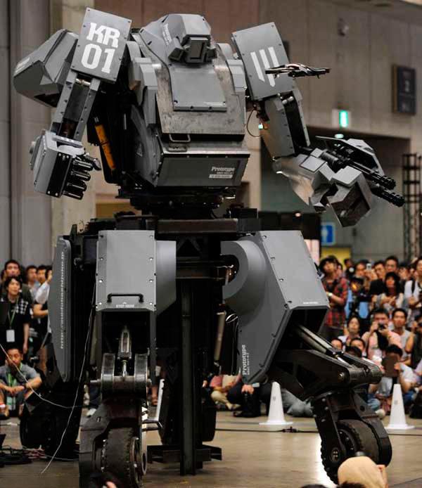 KURATAS гигантский военный-робот на выставке
