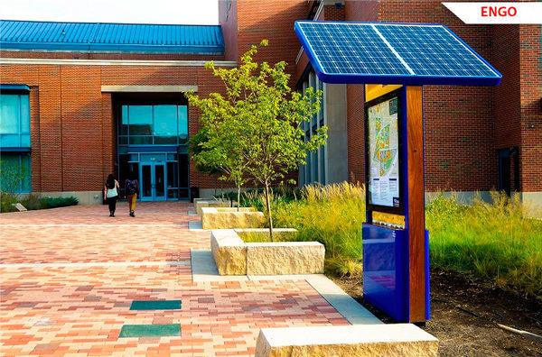 EnGo-станция зарядки, университет Вебстера в Сент-Луисе, штат Миссури