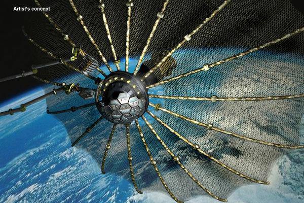 Концепт космического аппарата для сборки мусора на орбите Земли
