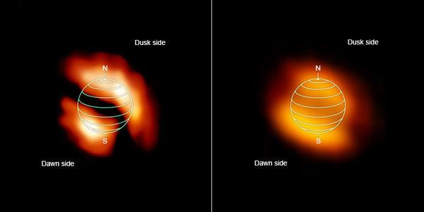 Снимок газовых образований на  Титане