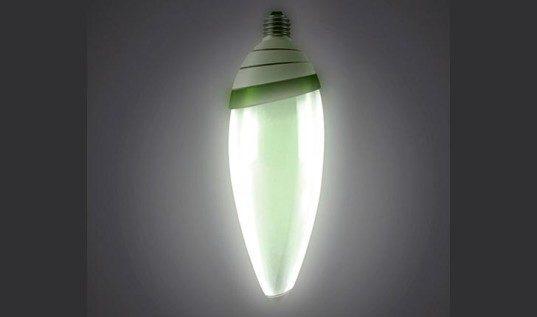 Светодиодная лампа, источником света являются водоросли
