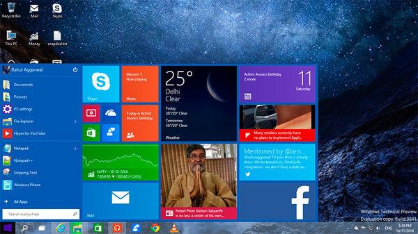 Windows 10, меню Пуск от ilovetech