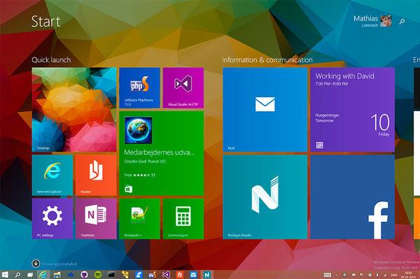 Windows 10, Плитка от ffMathy