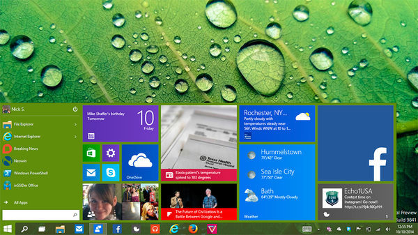 Windows 10, меню Пуск от Dot-Matrix