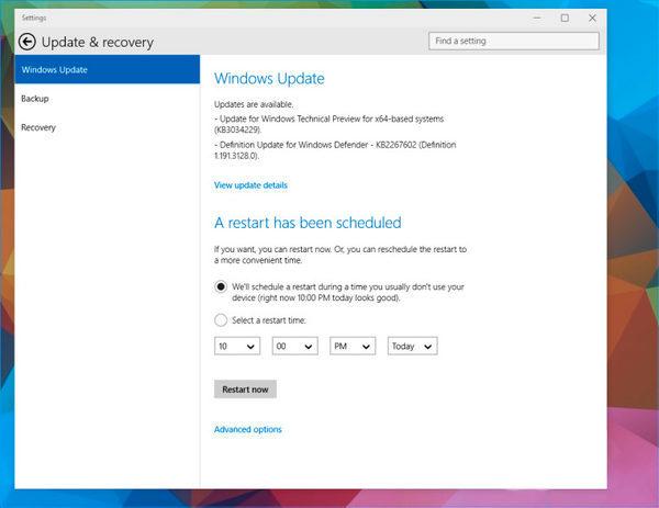 Планировщик-перезапуска-Windows-10