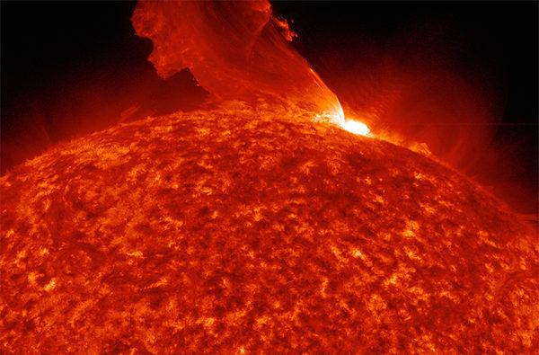 Средняя солнечная вспышка