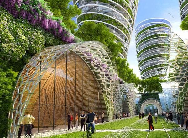 футуристический город будущего