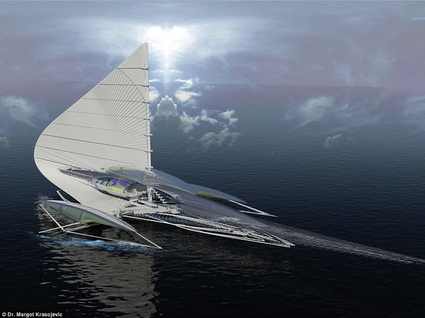 Тримаран яхта