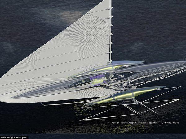 Лодка тримаран