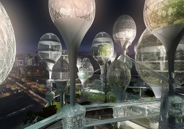 Париж, футуристический город будущего