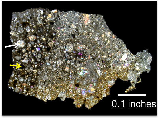 Тонкий срез метеорита