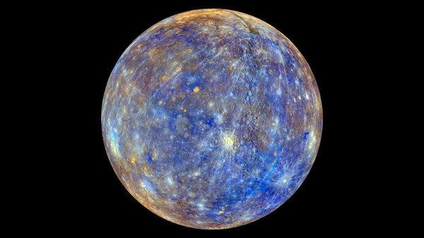 Цветной снимок Меркурия