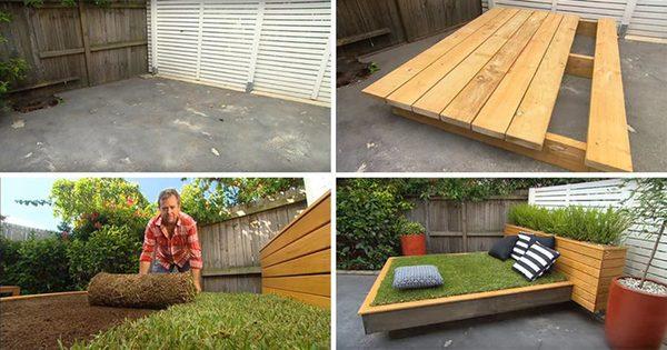 Кровать с матрасом из травы