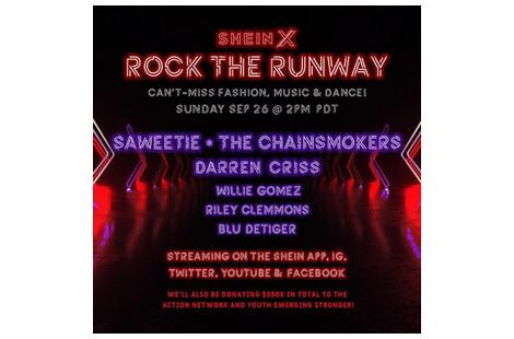 SHEIN объявляет о начале реализации проекта SHEIN X ROCK THE RUNWAY с коллекцией FW2021